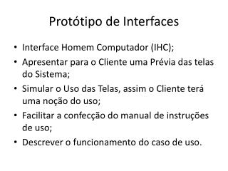 Protótipo de Interfaces