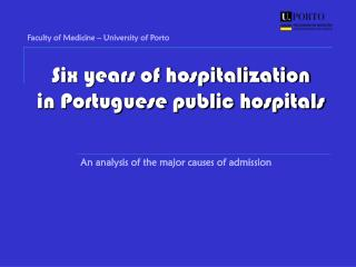 Six years of hospitalization in Portuguese public hospitals