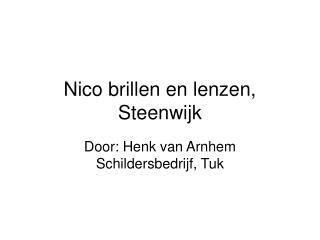 Nico brillen en lenzen, Steenwijk