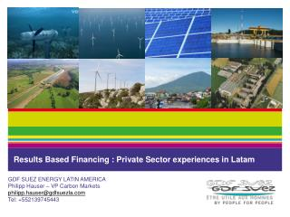 Results Based Financing : Private Sector experiences in  Latam