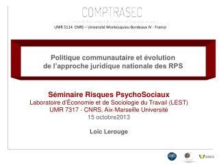 UMR 5114  CNRS � Universit� Montesquieu-Bordeaux IV - France