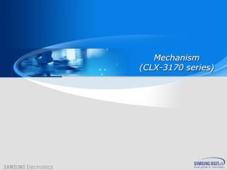 Mechanism (CLX-3170 series)