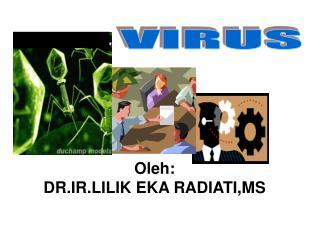 Oleh: DR.IR.LILIK EKA RADIATI,MS