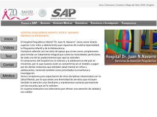 HOSPITAL PSIQUIATRICO INFANTIL JUAN N. NAVARRO MENSAJE DE BIENVENIDA