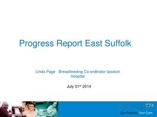 Progress Report East Suffolk