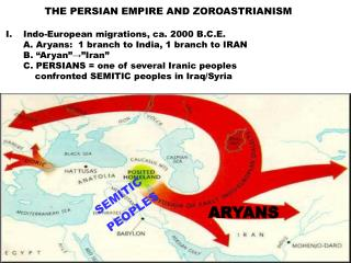 Indo-European migration, c. 1500 B.C.E.