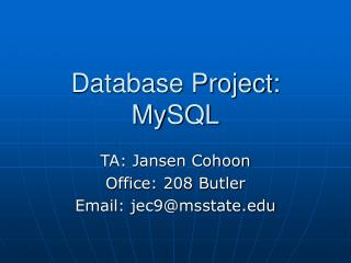 Database Project: MySQL