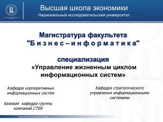 Высшая школа экономики Национальный исследовательский университет