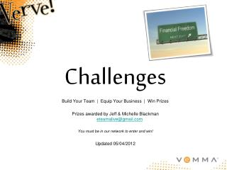 Challenges Build Your Team  |  Equip Your Business  |  Win Prizes