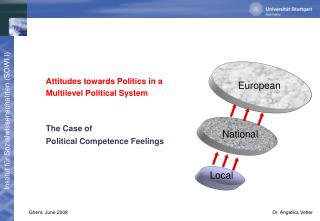 Attitudes towards Politics in a  	Multilevel Political System 	The Case of
