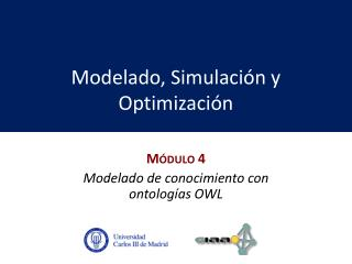 Modelado, Simulación y Optimización
