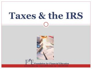 Taxes & the IRS