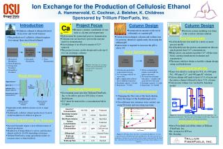 Ion Exchange for the Production of Cellulosic Ethanol