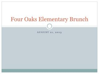 Four Oaks Elementary Brunch