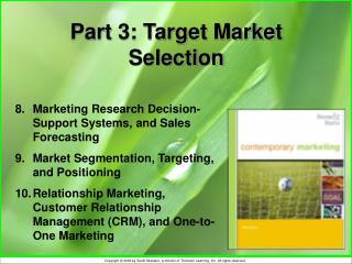 Part 3: Target Market Selection