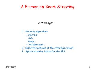 A Primer on Beam Steering