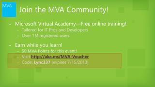 Join the MVA Community!