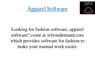 Apparel Software