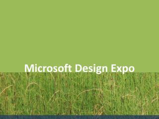 Microsoft Design Expo