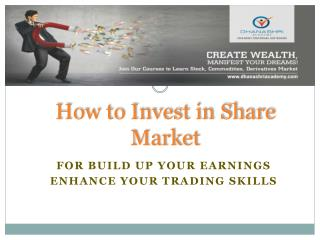 Rules for Invest in Share Market