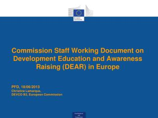 Commission Staff Working Document on Development Education and Awareness Raising (DEAR) in Europe