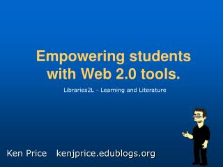 Empowering students  with Web 2.0 tools.