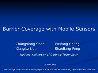 Barrier Coverage with Mobile Sensors
