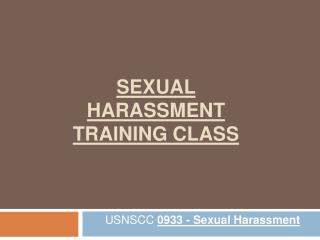 Sexual Harassment Training Class