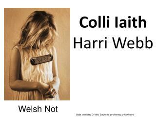 Colli Iaith Harri Webb