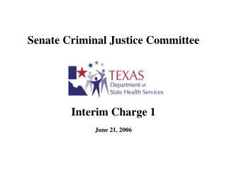 Senate Criminal Justice Committee
