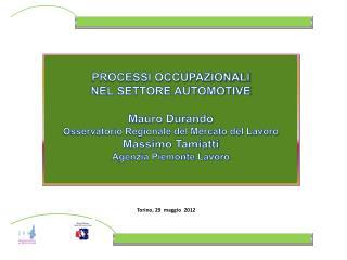 PROCESSI OCCUPAZIONALI NEL SETTORE AUTOMOTIVE Mauro Durando