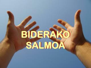 BIDERAKO SALMOA