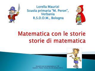 Matematica con le storie storie di matematica