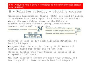 Topic 2.1 Extended H – Relative velocity – plotting courses