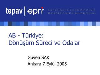 AB - Türkiye:  Dönüşüm Süreci ve Odalar