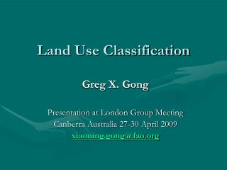 Land Use Classification
