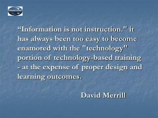 Using Technology to Foster Instruction: