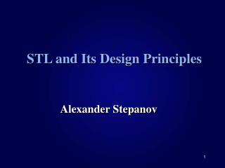 STL and Its Design Principles