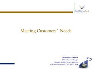 Meeting Customers'  Needs