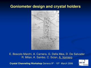 Goniometer design and crystal holders