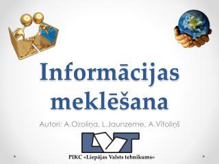 Informācijas meklēšana
