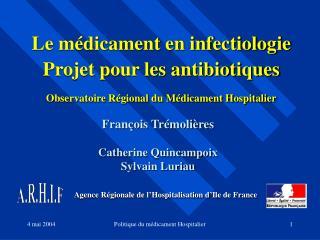 Agence R�gionale de l�Hospitalisation d�Ile de France