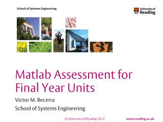 Matlab Assessment for Final Year Units