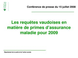 Conférence de presse du 15 juillet 2008