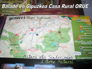 Balade en Gipuzkoa Casa Rural ORUE