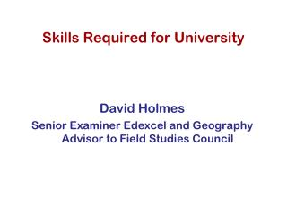 Skills Required for University
