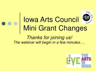 Iowa Arts Council Mini Grant Changes
