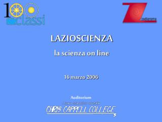 LAZIOSCIENZA la scienza on line