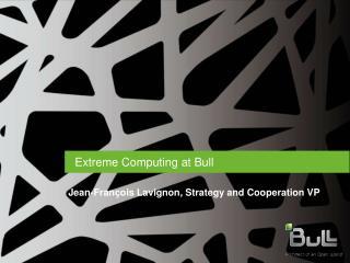 Extreme Computing at Bull