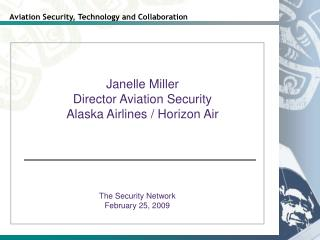 The Security Network February 25, 2009